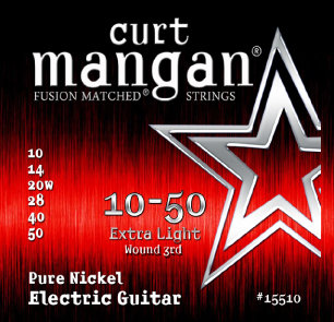 CURT MANGAN 10-50 Pure Nickel Wound Extra Light Set струны для электрогитары