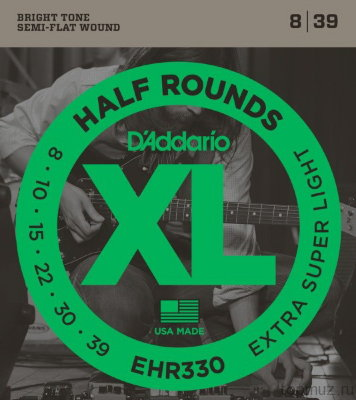 D'ADDARIO EHR330 Extra Super Light 8-39 струны для электрогитары
