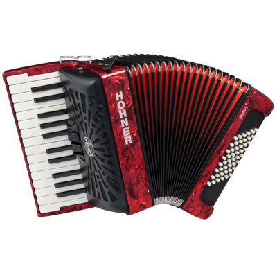 Аккордеон 1/2 HOHNER Bravo II 48 / red