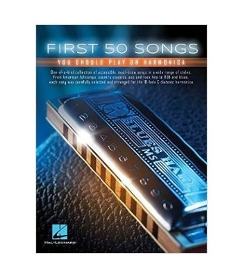 HL00152493 FIRST 50 SONGS YOU SHOULD PLAY ON HARMONICA HARM TAB BOOK