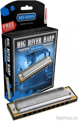Губная гармошка HOHNER Big river harp 590/20 E (M590056X) с уроками