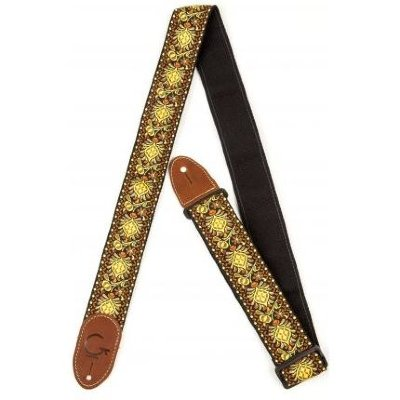 GRETSCH G Brand Strap Yellow/Orange Brown Ends ремень для гитары