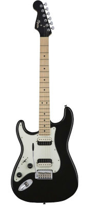 Fender Squier Contemporary Stratocaster HH Left-Handed Maple Fingerboard Black Metallic электрогитара