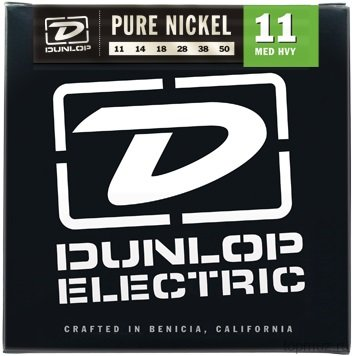 DUNLOP DEK Pure Nickel Medium Heavy 11-50 струны для электрогитары