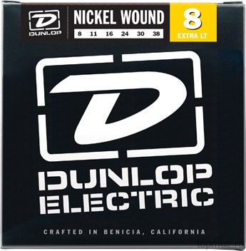 DUNLOP DEN Nickel Plated Steel Extra light 08-38 струны для электрогитары