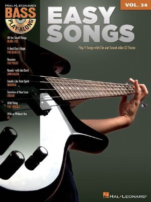 HL00701480 - Bass Play-Along Volume 34: Easy Songs - книга: Играй...