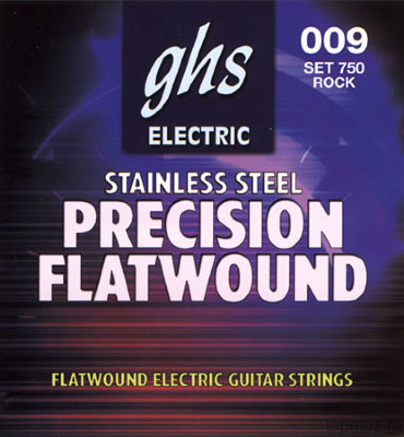 GHS 750 Rock'N Roll Precision Flatwound Electric струны для электрогитары