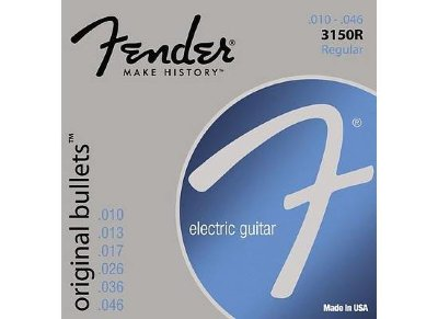 FENDER STRINGS NEW ORIGINAL BULLET 3150R PURE NKL BLT END 10-46, струны для электрогитары, никель