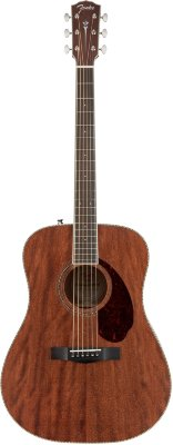 FENDER PM-1 Dreadnought All Mahogany with Case Natural OV Акустическая гитара с кейсом