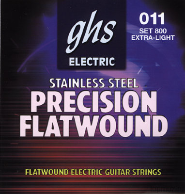 GHS 800 10-46 Extra Light Guage Precision Flatwound Electric струны для электрогитары