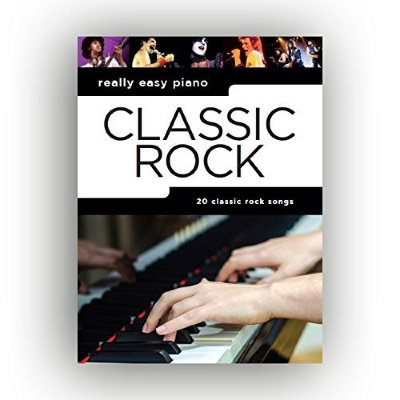 AM1012891 - REALLY EASY PIANO CLASSIC ROCK PIANO BOOK
