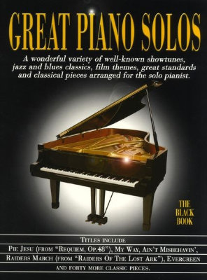 AM970167R - Great Piano Solos - The Black Book - книга: Великие фортепианные...