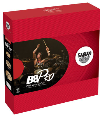 "SABIAN B8 Pro 35003B Performance Set (14"" Medium Hats, 16"" Medium Crash, 20"" Medium Ride) набор тарелок, полированные"