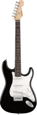 FENDER SQUIER MM STRATOCASTER HARD TAIL BLACK электрогитара