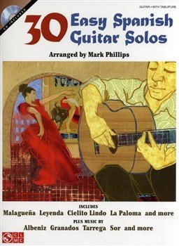 HL02501147- 30 EASY SPANISH GUITAR SOLOS GTR BOOK/CD