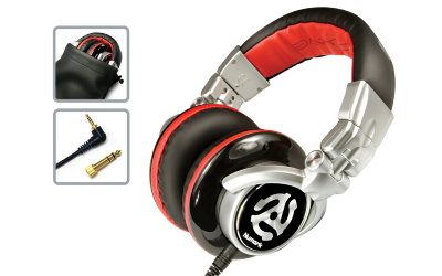 NUMARK Red Wave DJ наушники, 15-20000Hz, 98 +/- 3дБ, 24 Ом, диаметр мембраны 50 мм