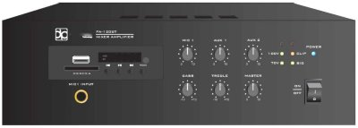 Direct Power Technology PA-120BR Микшер-усилитель, 1 канал 120W, MP3/TUNER, Bluetooth, 1U rack