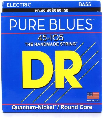 DR PB-45 (45-105) PURE BLUES струны для бас-гитары