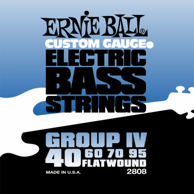 Ernie Ball 2808 Flat Wound Bass Group IV (40-60-70-95) для бас-гитары