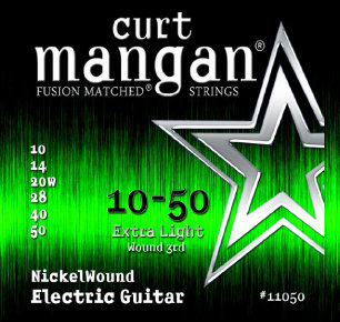 CURT MANGAN 10-50 Nickel Wound Set струны для электрогитары